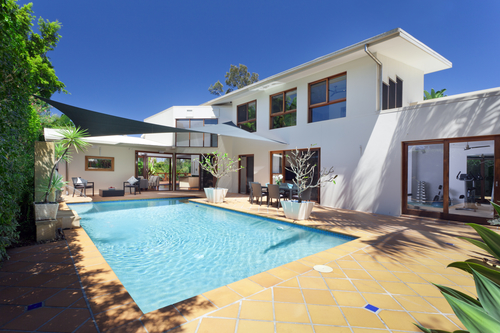 Backyard with Swimming Pool - Pool Inspection San Diego