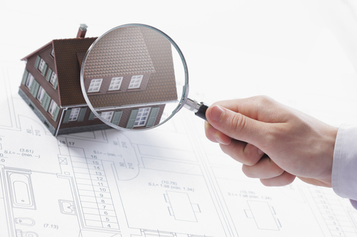 Magnifying Glass and Little House - San Diego Home Inspectors