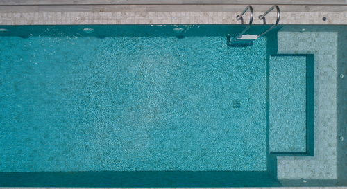 Aerial view of a swimming pool - Pool and Spa Inspection