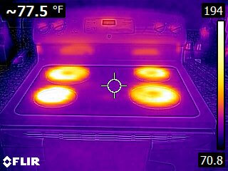 Thermal Imaging - Electrical Oven Range - Home Inspectors San Diego
