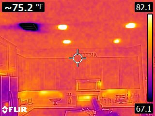 Thermal Imaging - Kitchen - Home Inspectors San Diego